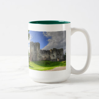 Norman Chepstow Castle Ruins of Wales, UK Two-Tone Coffee Mug