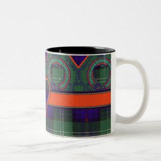 Norman clan Plaid Scottish kilt tartan Two-Tone Coffee Mug