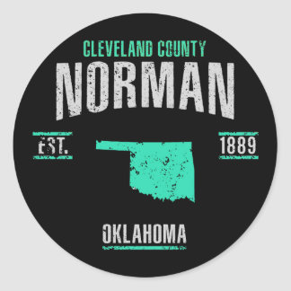 Norman Classic Round Sticker