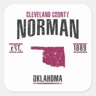 Norman Square Sticker