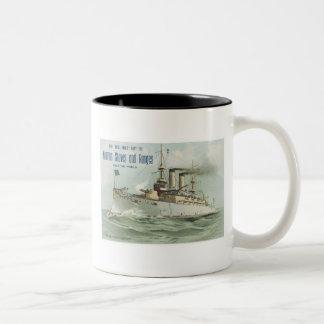 Norman Stoves and Ranges Ship Two-Tone Coffee Mug