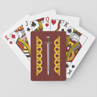 Norman Sword and Decorative Bands Playing Cards