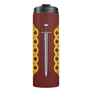 Norman Sword and Decorative Bands Thermal Tumbler