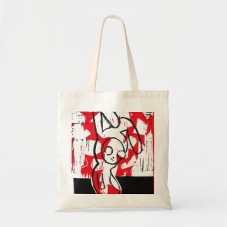 Norman the Bunny Tote (red)