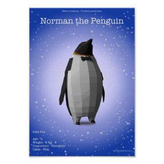 Norman The Penguin Poster
