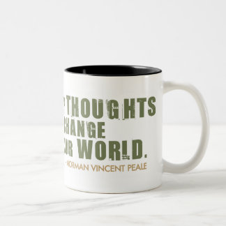 Norman Vincent Peale Quote Two-Tone Coffee Mug