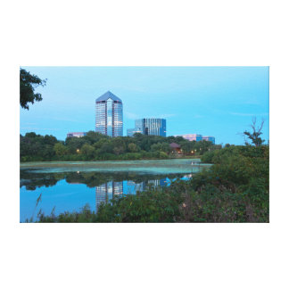 Normandale Lake and Buildings Canvas Print