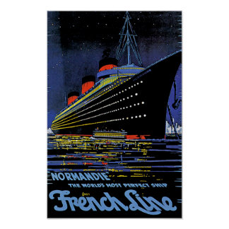 Normandie at Night Poster
