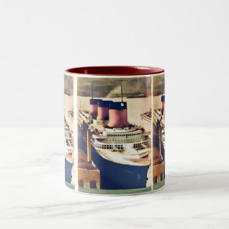 Normandie at NYC Two-Tone Coffee Mug