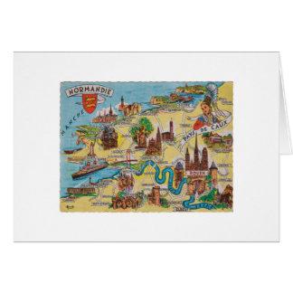 Normandie old map card
