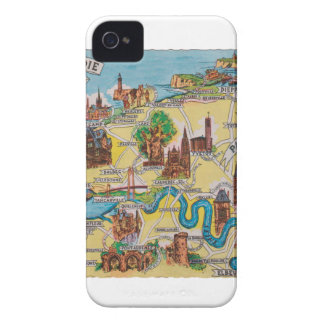 Normandie old map Case-Mate iPhone 4 cases