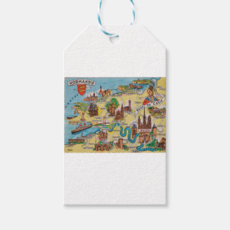 Normandie old map gift tags