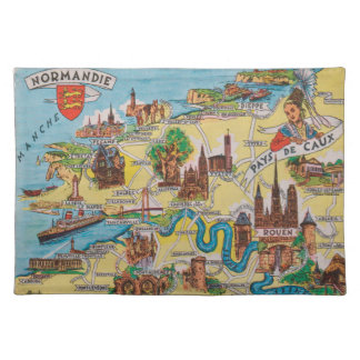 Normandie old map placemat