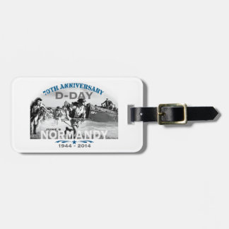 Normandy 70th D-Day Anniversary Travel Bag Tag