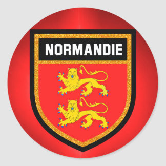 Normandy Flag Classic Round Sticker