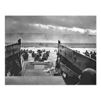 Normandy Invasion at D-Day - 1944 Post Card