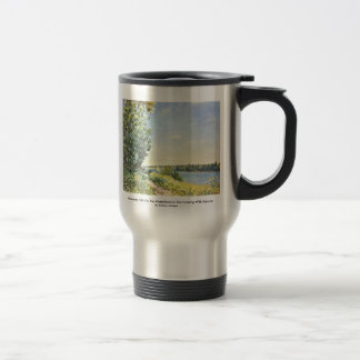 Normandy Path On The Waterfront In The Evening Travel Mug
