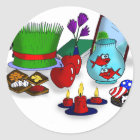 Norooz Cartoon Classic Round Sticker