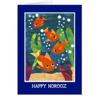 Norooz Goldfish for Persian New Year Card