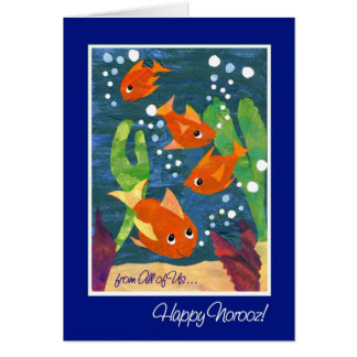 "Norooz Goldfish ""From All of Us"" Card"