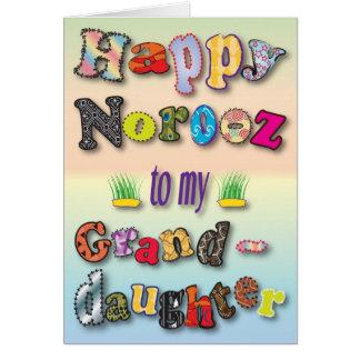 Norooz / Granddaughter Card