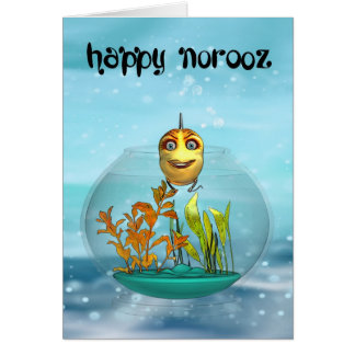Norooz Greeting Card With Goldfish