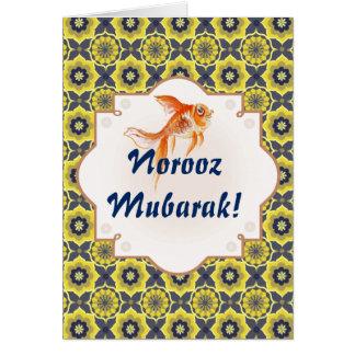 Norooz Mubarak Khatam fish Card