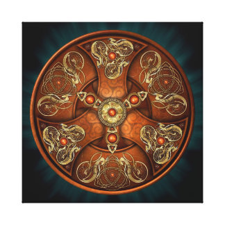 Norse Chieftain's Shield Canvas Print