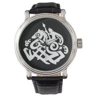 Norse God Odin and Sleipnir Wristwatch