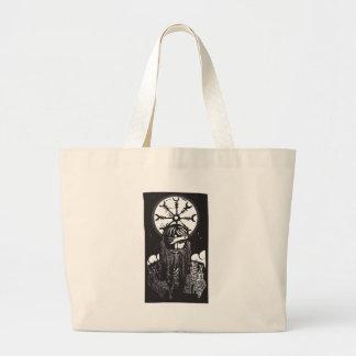 Norse God Odin and Wheel Symbol Tote Bag