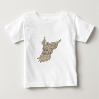 Norse God Odin Head Drawing Baby T-Shirt