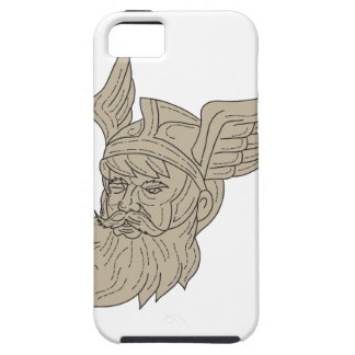 Norse God Odin Head Drawing iPhone 5 Covers