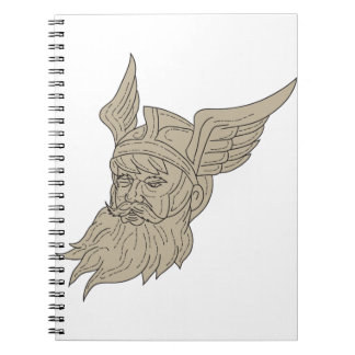 Norse God Odin Head Drawing Notebook