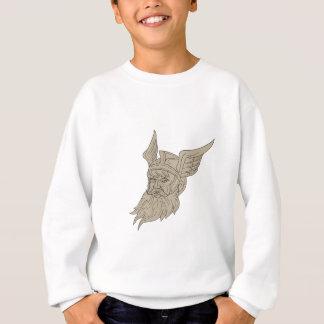 Norse God Odin Head Drawing Sweatshirt