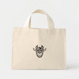 Norse God Odin Head Retro Mini Tote Bag