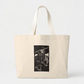 Norse God Odin With 2 Ravens Tote Bag