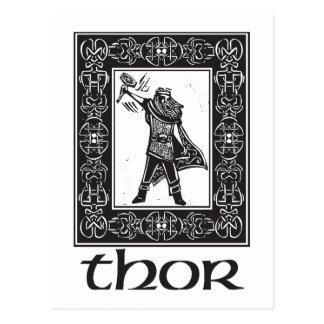 Norse God Thor Postcard