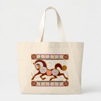 Norse Horse MegaTote Bag: Glow Large Tote Bag