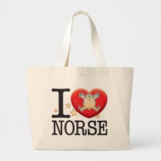 Norse Love Man Jumbo Tote Bag