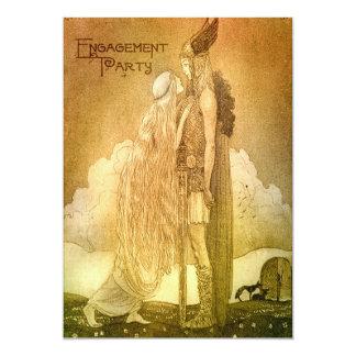 Norse Mythology Engagement Party Custom Card