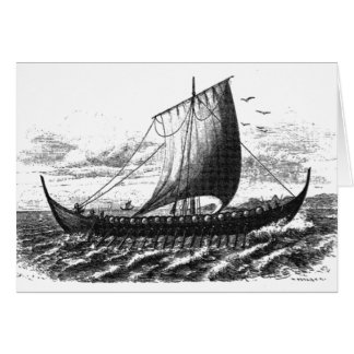 Norse Ship of the Tenth Century Card