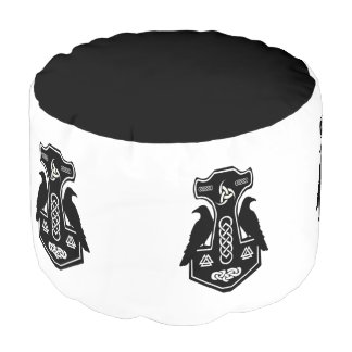 Norse Thor's Hammer Pouf