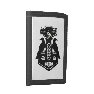 Norse Thor's Hammer Trifold Wallets