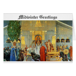 Norse Yule Card - Midwinter Blot