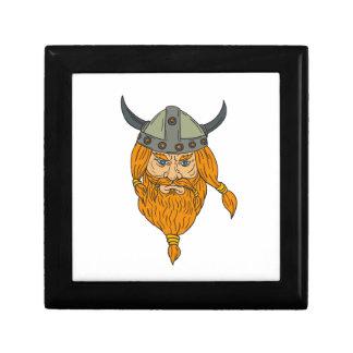 Norseman Viking Warrior Head Drawing Gift Box