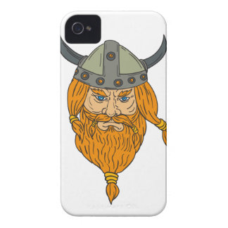 Norseman Viking Warrior Head Drawing iPhone 4 Case