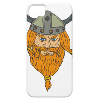 Norseman Viking Warrior Head Drawing iPhone 5 Case