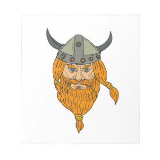 Norseman Viking Warrior Head Drawing Notepad