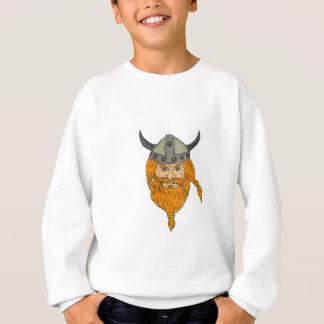 Norseman Viking Warrior Head Drawing Sweatshirt