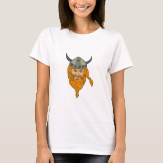 Norseman Viking Warrior Head Drawing T-Shirt